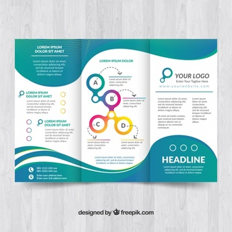 elegant brochure template with wave