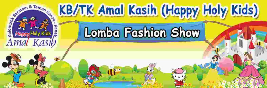 Banner Lomba Fashion Show cdr vector