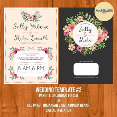 Design Wedding Invitation Desain Undangan Pernikahan Marollie