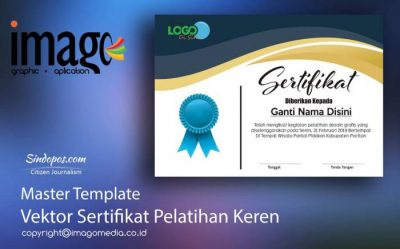Download Template Sertifikat Pelatihan master template