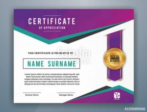 Download the royalty free vector Multipurpose Modern Professional Certificate Template Design for Print