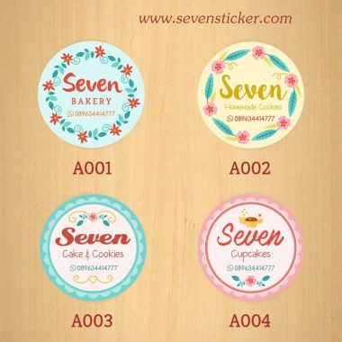 Jual Stiker Label Kue Kitchen Slime Clothing