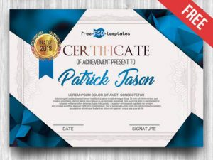 a design for Free Certificate Template IN PSD format cool
