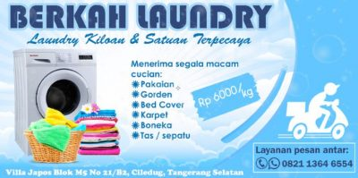background banner laundry berkah