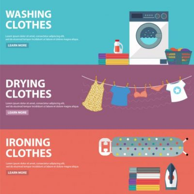 background banner laundry free