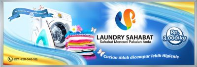 background banner laundry sahabat