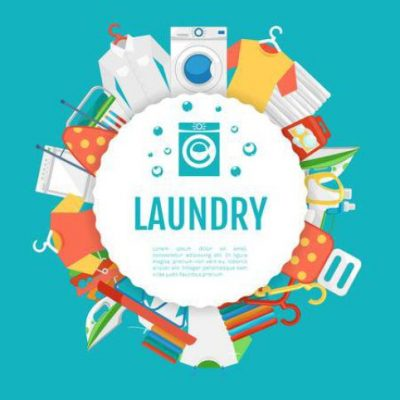 background banner laundry stock vector