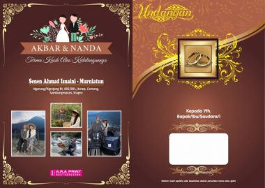 background desain undangan nikah dengan foto file corel cdr