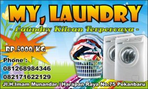 banner laundry terbaik cdr my custom
