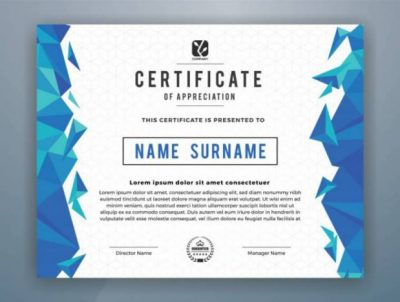 certificate template design print vector illustration vector corel