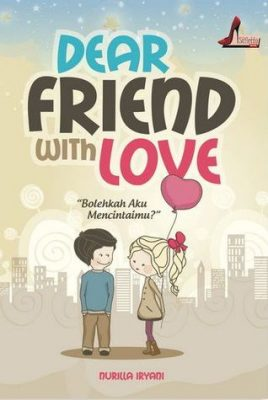 cover buku novel dear friend with love