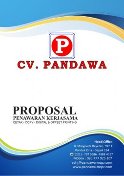cover proposal penawaran kerjasama percetakan digital printing Offset Printing