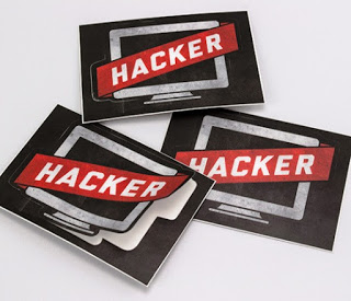hacker stiker desain for distro
