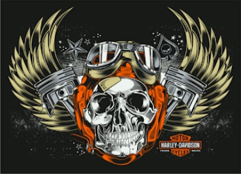 harley davidson sticker distro with wings