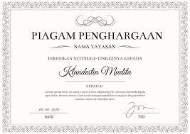 Sertifikat Penghargaan Lomba