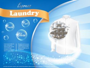 laundry detergent advertising poster background banner