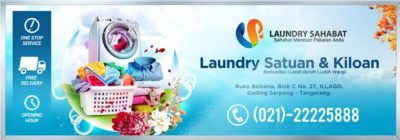 spanduk loundry background banner laundry