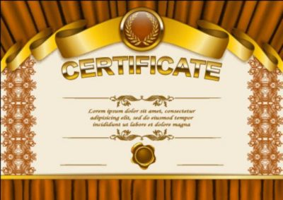 vector certificate template exquisite vector full gold keren