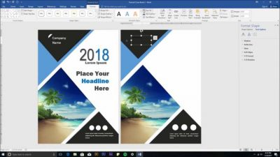 video tutorial that explains how to make a book cover design using Microsoft Word