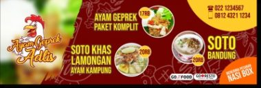 Download Template Banner Warung Makan Cdr