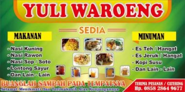 Download Template Banner Warung Makan Cdr simple