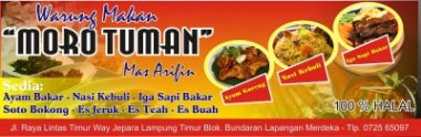 Download Template Banner Warung Makan Cdr vector