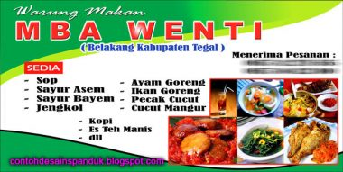Download Template Banner Warung Makan sederhana Cdr