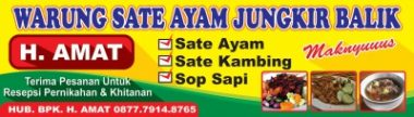 Download Template Banner Warung sate Makan Cdr