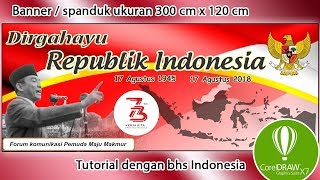Download thumbnail of video Cara desain spanduk banner Hut RI
