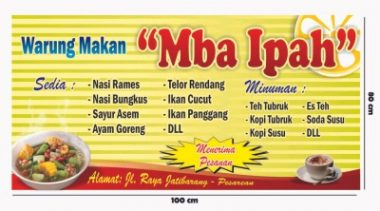 Mie ayam Download Template Banner Warung Makan Cdr