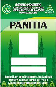 Template Id Card Panitia Cdr 18
