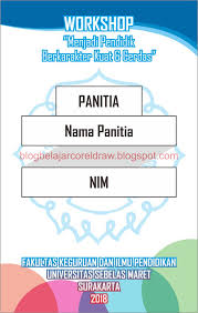 Template Id Card Panitia Cdr 30