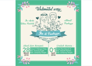 Template Undangan Pernikahan coreldraw Just Married
