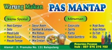 Warung Makan Cdr Download Template Banner