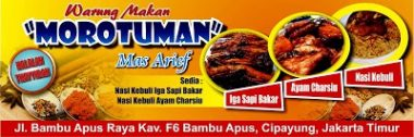 background Download Template Banner Warung Makan Cdr