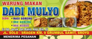 contoh Download Template Banner Warung Makan Cdr