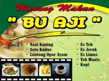 kedai Download Template Banner Warung Makan Cdr
