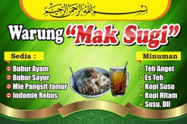 sederhana Download Template Banner Warung Makan Cdr