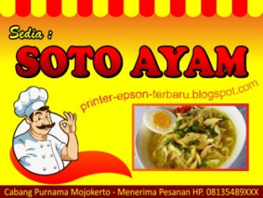 soto ayam Download Template Banner Warung Makan Cdr