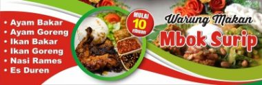 spanduk Download Template Banner Warung Makan Cdr