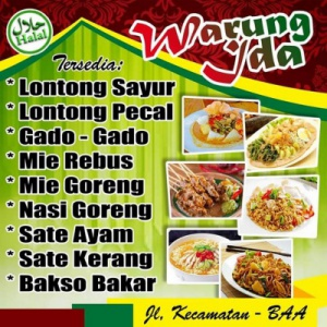 template Download Banner Warung Makan Cdr