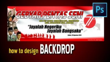 tutorial design bacdrop diphotoshop