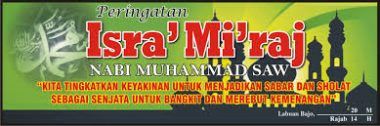 Download banner Isra Miraj vector