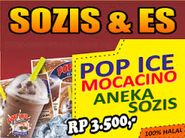 download spanduk sosis bakar dan pop ice