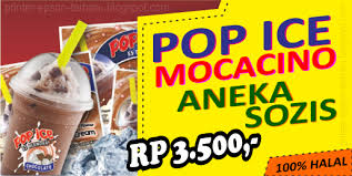 spanduk cappucino cincau pop ice cdr