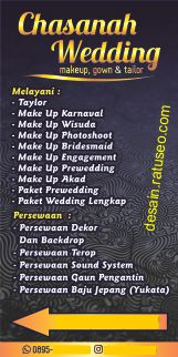 download background spanduk wedding organizer psd cdr
