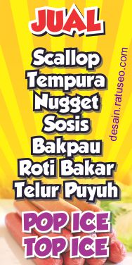 download banner jual sosis bakar cdr