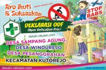 Banner Deklarasi ODF Open Defecation Free STOP BAB
