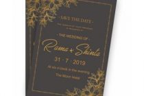 Black Gold Wedding Invitation Template