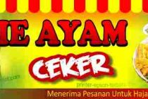 Banner Mie Ayam Ceker Cdr Vector